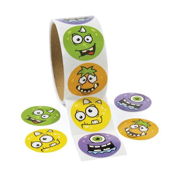 Lustige Monster Aufkleber Sticker 100 Stück