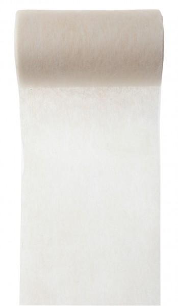 Tischband elfenbein creme Vlies 10cm x 10m