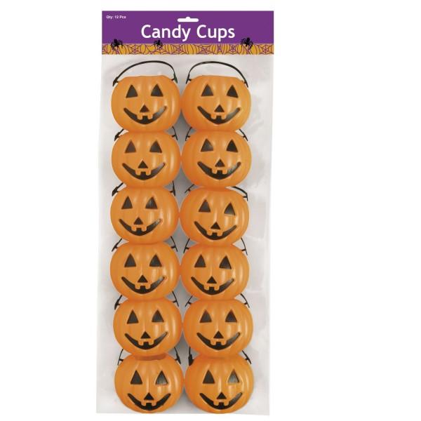 Halloween Kürbis Kessel für Süßigkeiten Schale 12 Stück