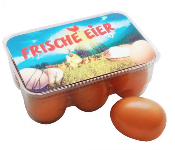 Kaufmannsladen Zubehör 6 frische Eier