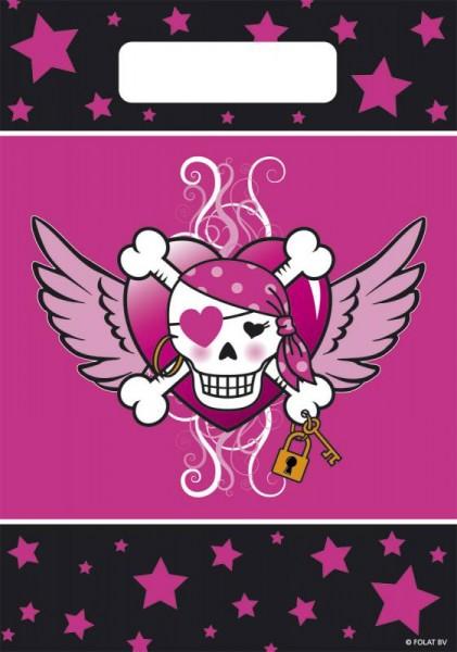 Piraten Mädchen, 8 Mitgebseltüten, Piraten Party, Pirate Girl