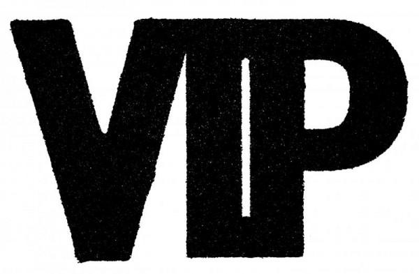 """XXL Geburtstags Konfetti """"VIP"""" schwarz glitzernd 6 Stück"""