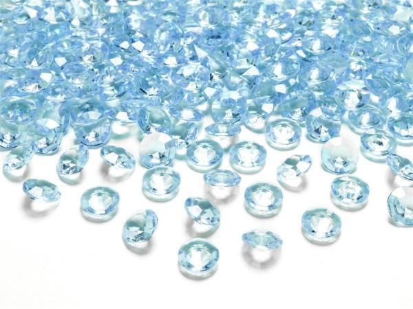 Dekosteine Diamanten türkis 100 Stück 12mm Durchmesser