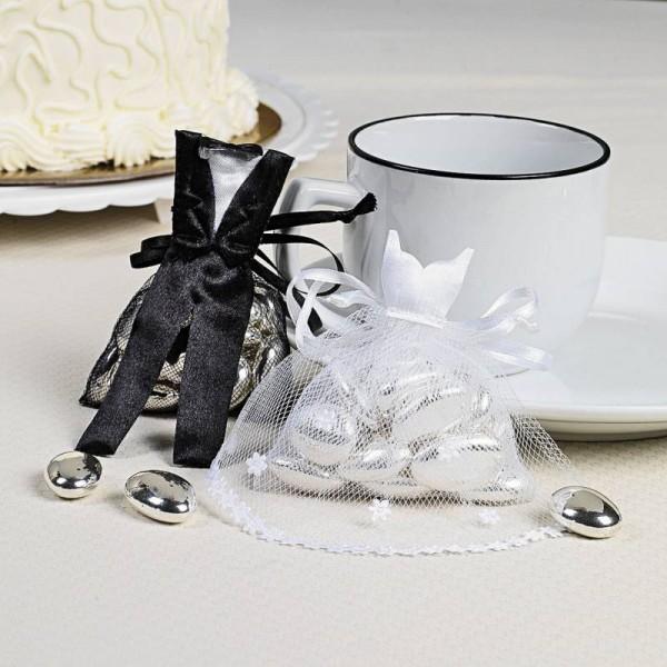 Hochzeit Organza Beutel im Brautpaar Design 12 Paar