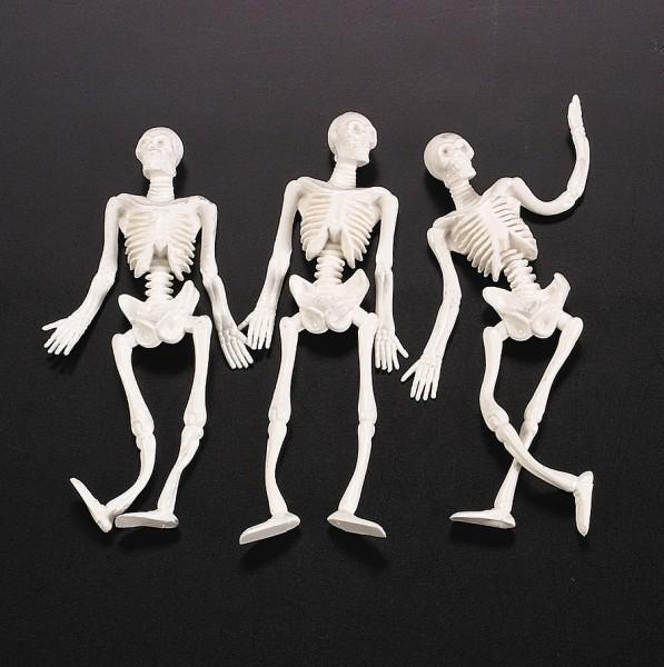 Skelette flexibel und dehnbar aus weichem Gummi 3 Stück