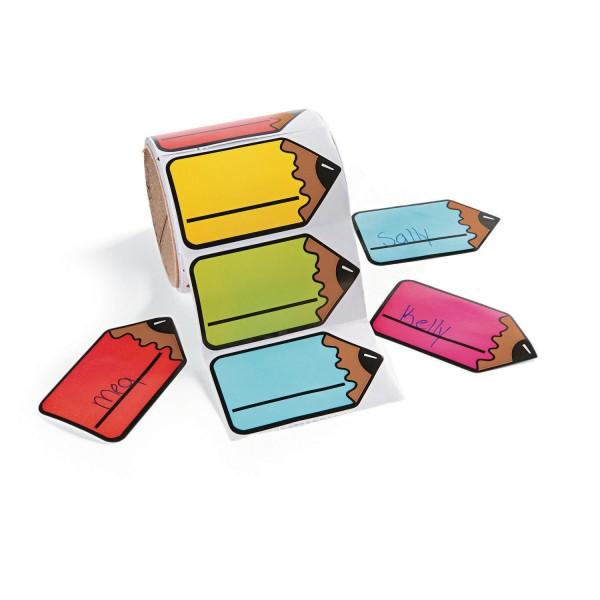 Bleistift Namensschilder Sticker Aufkleber 100 Stück