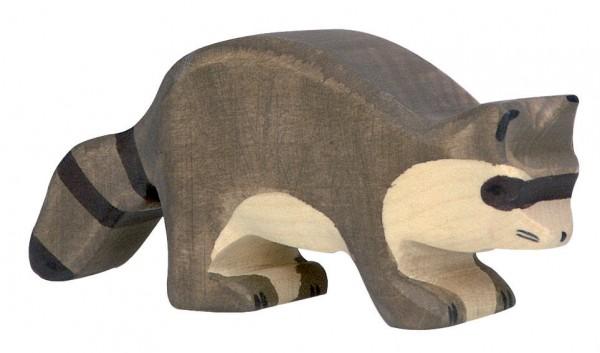 Waschbär Waldtier Holzfigur Holzspielzeug von Holztiger