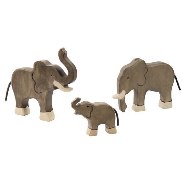 Holztiger Elefanten Set mit 3 Holzfiguren