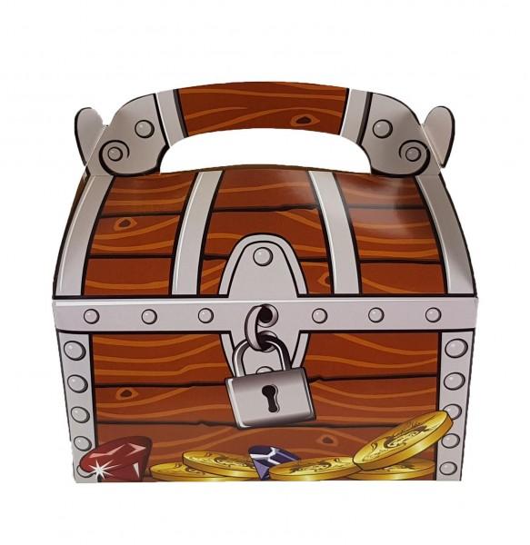 Piraten Schatzkiste Faltbox Schatztruhe 6 Stück