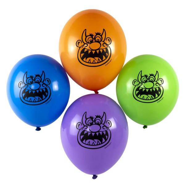 Lustige Monster Luftballons Monsterparty Halloween Palandi® 12 Stück