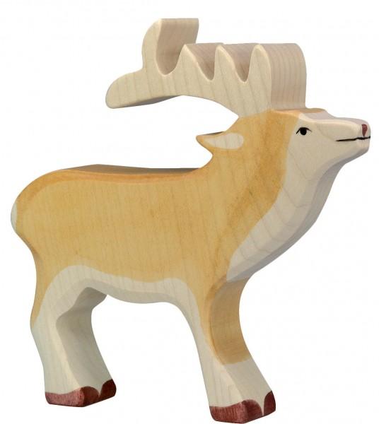Hirsch Waldtier Holzfigur Holzspielzeug von Holztiger