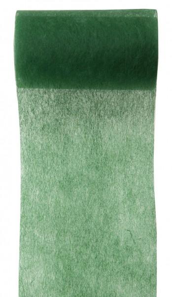 Tischband dunkelgrün grün Vlies 10cm x 10m