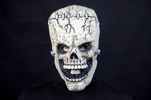 Halloween Maske Frankenstein, Frankensteinschädel