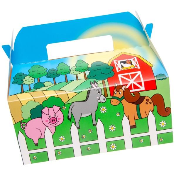 Bauernhof Farm Geschenkboxen Partyboxen 6 Stück