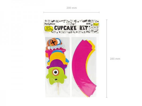 Lustige Monster Cup-Cake Deko-Kit mit Cake Picks Picker 24 Stück