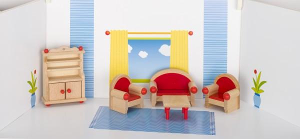 Puppenmöbel Wohnzimmer goki klassik Puppenstube