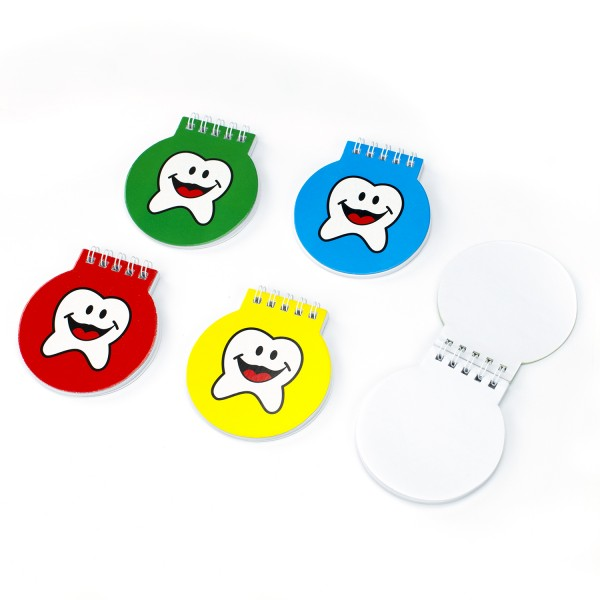 Lachender Zahn Notizzettel Zähnchen-Block 12 Stück Kindergeburtstag Mitgebsel