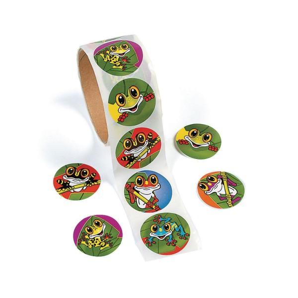 Lustige Frösche Aufkleber Sticker 100 Stück