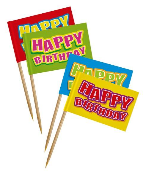 Happy Birthday Picks Picker Partyspieße 24 Stück