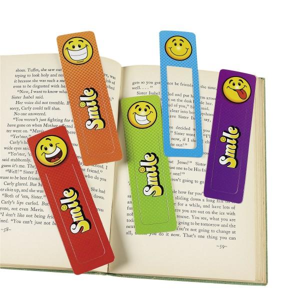 Smiley Lesezeichen mit 4 verschiedenen Motiven 24 Stück