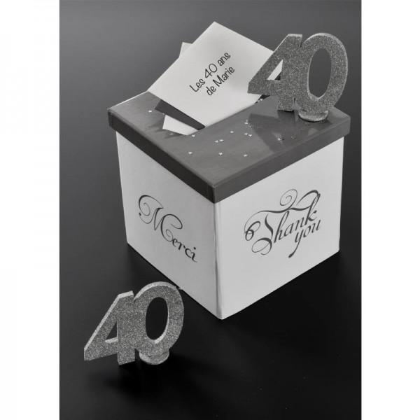 XXL Tischdeko Zahl 30 Geburtstag Silber Glitzer 1 Stück