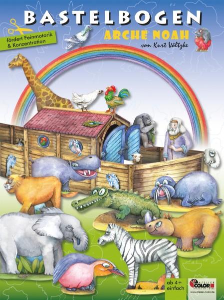 Bastelbogen Arche Noah mit Tieren bespielbares Model
