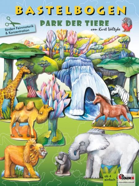 Bastelbogen Tierpark Zoo bespielbares Model