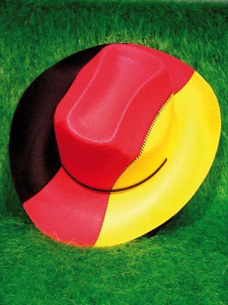 Deutschland Cowboyhut in Deutschland-Farben