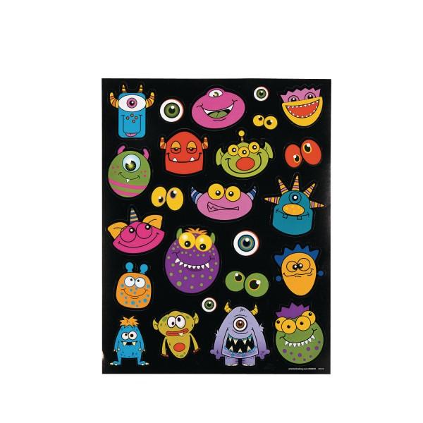 Lustige Monster Aufkleber in 23 unterschiedlichen Motiven 12 Blätter