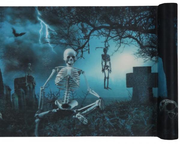 Tischläufer Halloween Skelett Horror Friedhof Horrorparty