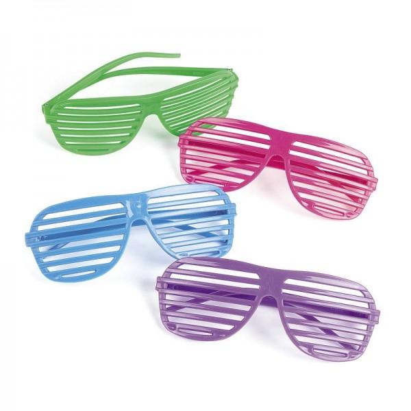 Partybrille Atzenbrille Schlagerparty 12 Stück
