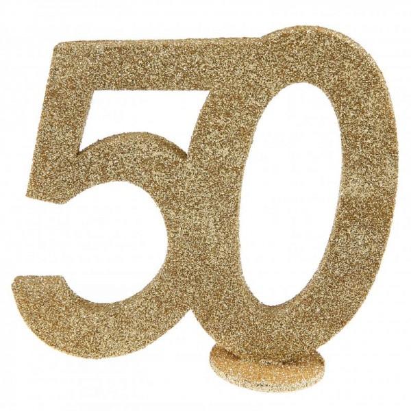 xxl tischdeko zahl 50 geburtstag gold glitzer 1 st ck zahlen geburtstag cama24. Black Bedroom Furniture Sets. Home Design Ideas