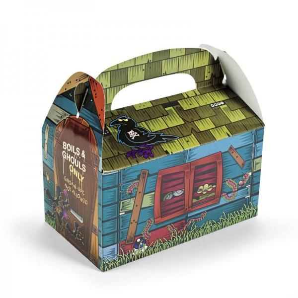 Halloween Horrorhaus Faltbox für Gastgeschenke Mitgebsel Give Aways 6 Stück