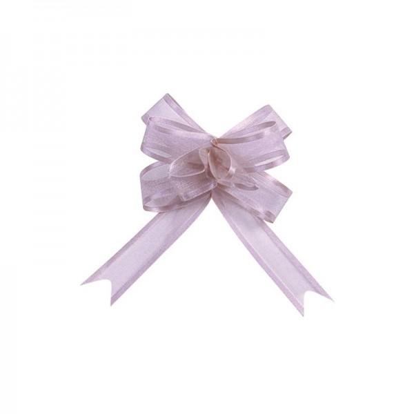 Ziehschleifen Geschenkschleifen lavendel 8cm x 4,5cm aus Organza mit Satinkante 5 Stück