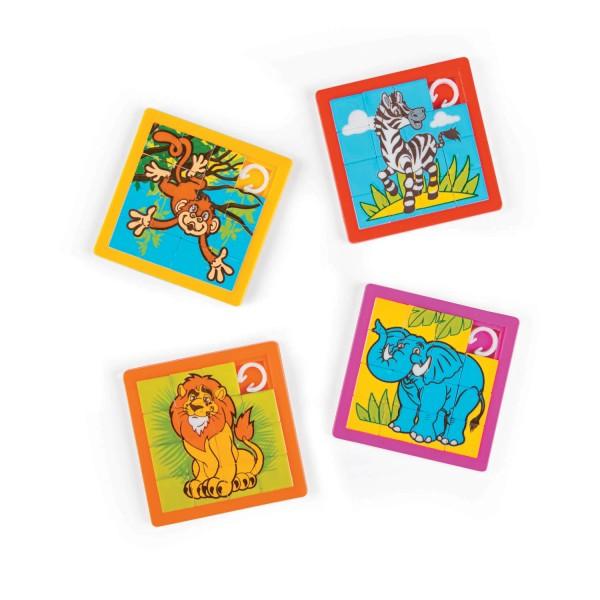 Safari Dschungel Tiere Schiebepuzzle 12 Stück