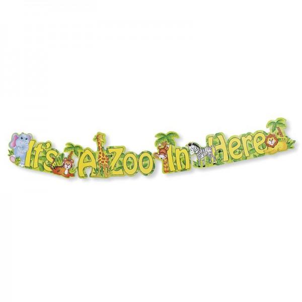 Safari Zoo Tiere XXL Banner Girlande 120cm