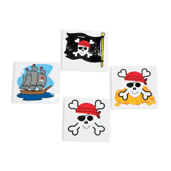 Piraten Tattoo 4 verschiedene Motive 36 Stück