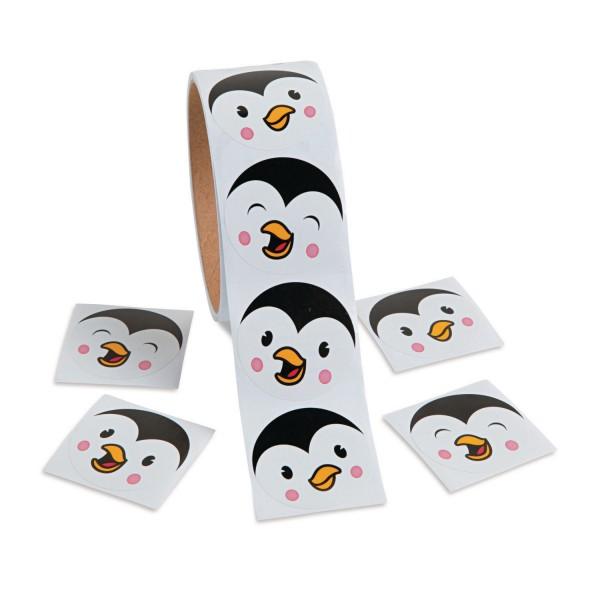 Lustige Pinguin Gesichter Aufkleber Sticker 100 Stück