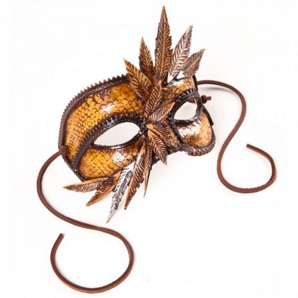 Ledermaske Venezianische Maske Colombina für Maskenball Fasching Karneval