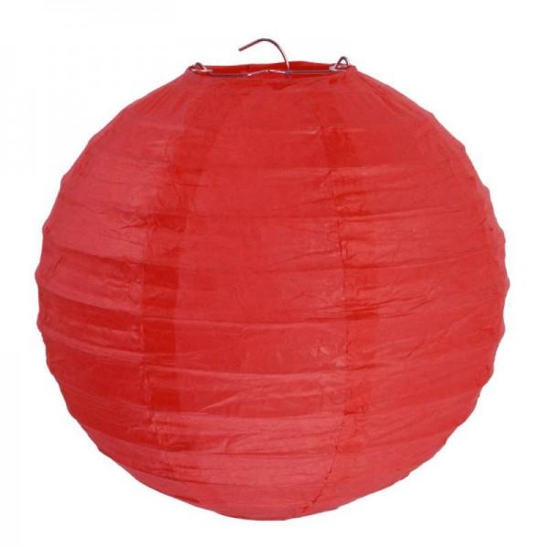 Lampions Rot 30cm Durchmesser Laterne 2 Stück