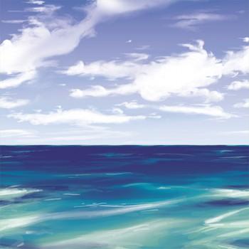 Piraten Wanddeko Meer und Himmel