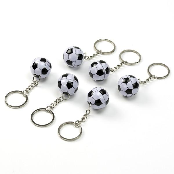 Fußball 12 Schlüsselanhänger aus Metall Fußballparty