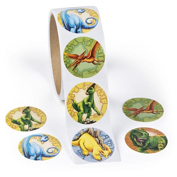 Dino Dinosaurier Aufkleber Sticker 5 Motive 100 Stück