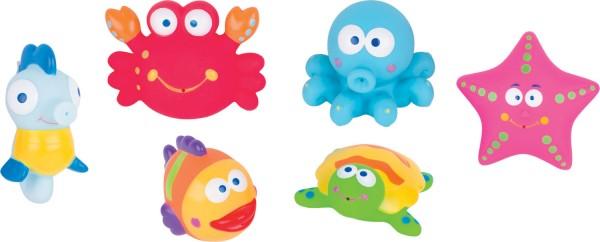 Meerestiere Wasserspritztiere 6 Stück