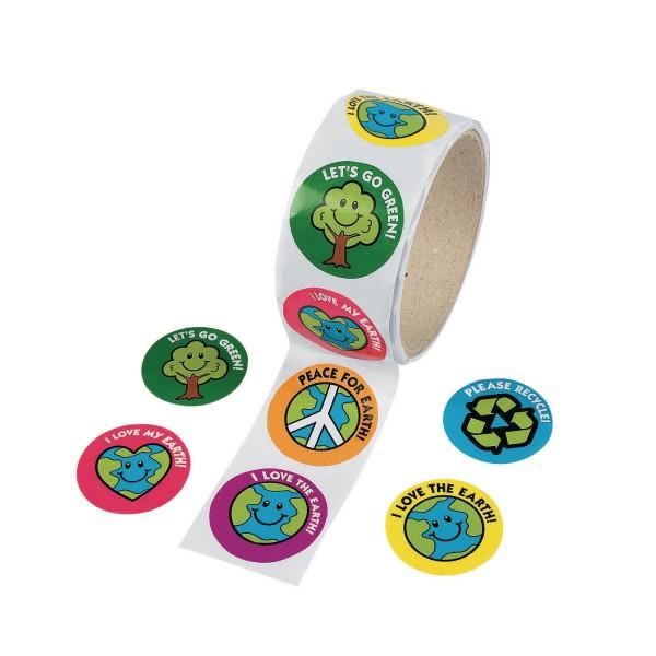 Schützt die Erde Umweltschutz Aufkleber Sticker 100 Stück
