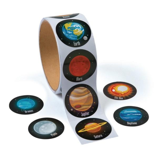 Weltraum Planeten Sticker Aufkleber 100 Stück