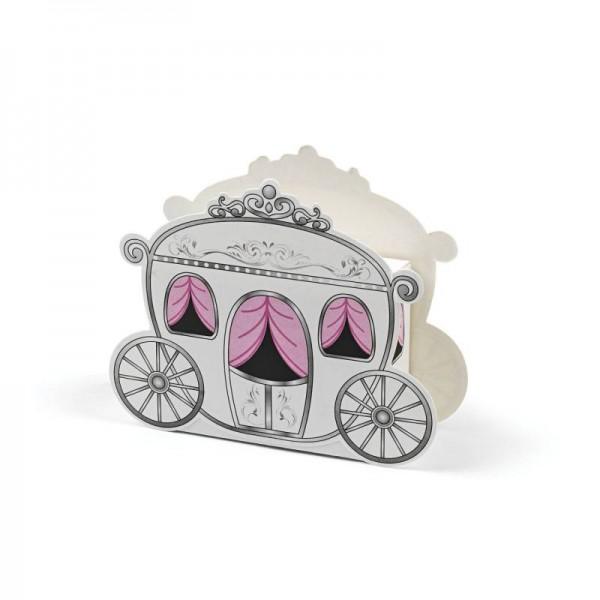 Geschenkbox Hochzeitskutsche für Hochzeitsmandeln 12 Stück Faltboxen