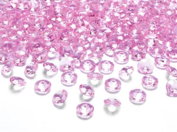 Dekosteine Diamanten rosa 100 Stück 12mm Durchmesser
