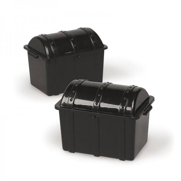 Piraten Schatztruhe schwarz Schatzkiste Plastik 6 Stück