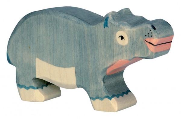 Nilpferd klein Safari Holzfigur Holzspielzeug von Holztiger